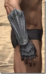 Fang Lair Rubedo Leather Bracers - Male Right
