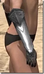 Orc Steel Gauntlets - Female Right