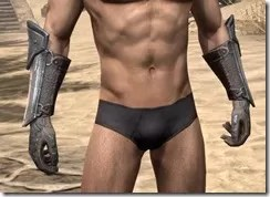 Orc Steel Gauntlets - Male Front