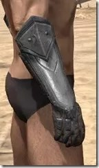 Orc Steel Gauntlets - Male Right