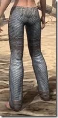 Orc Steel Greaves - Female Rear