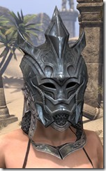 Worm Cult Iron Helm - Female Front
