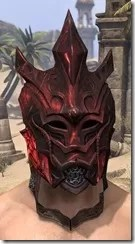 Worm Cult Rubedite Helm - Male Front