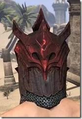 Worm Cult Rubedite Helm - Male Rear