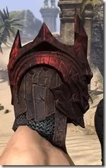 Worm Cult Rubedite Helm - Male Right