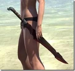 Worm Cult Rubedite Sword