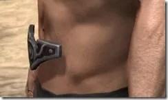Worm Cult Rubedo Leather Belt - Male Side