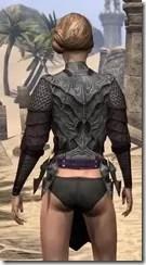 Worm Cult Rubedo Leather Jack - Female Rear