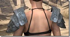 Abah's Watch Pauldron - Female Rear
