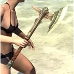 Ancient Elf Dwarven Axe