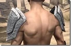 Apostle Iron Pauldrons - Male Rear