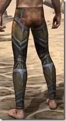 Dark Elf Dwarven Greaves - Male Rear