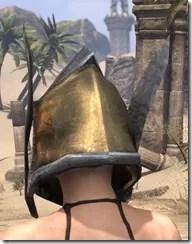 Dark Elf Dwarven Helm - Female Rear