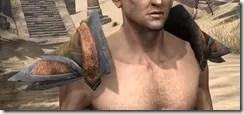 Dark Elf Dwarven Pauldron - Male Front