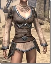 Dark Elf Homespun Jerkin - Female Front