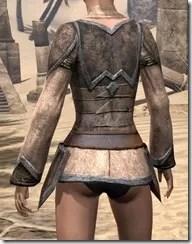 Dark Elf Homespun Jerkin - Female Rear