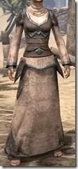 Dark Elf Homespun Robe - Female Front
