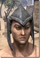 Dark Elf Iron Helm - Male Front
