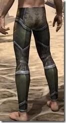 Dark Elf Orichalc Greaves - Male Rear