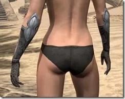 High Elf Steel Gauntlets - Female Rear