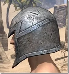 High Elf Steel Helm - Male Side