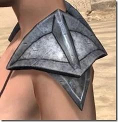 High Elf Steel Pauldrons - Female Side