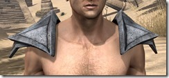 High Elf Steel Pauldrons - Male Front