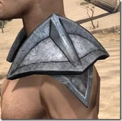 High Elf Steel Pauldrons - Male Side