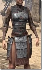 Imperial Steel Cuirass - Female Front