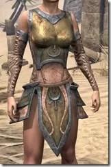 Khajiit Dwarven Cuirass - Female Front