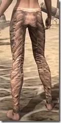 Khajiit Dwarven Greaves - Female Rear