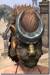 Khajiit Dwarven Helm - Female Front