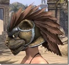 Khajiit Dwarven Helm - Female Side