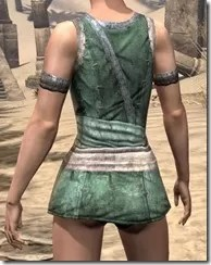 Khajiit Homespun Jerkin - Female Rear