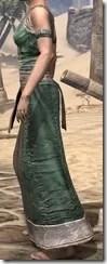 Khajiit Homespun Robe 1 - Female Side