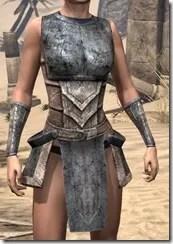Khajiit Iron Cuirass - Female Front