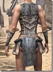 Khajiit Iron Cuirass - Female Rear