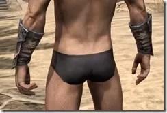 Khajiit Iron Gauntlets - Male Rear