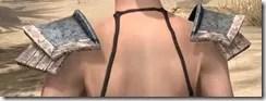 Khajiit Iron Pauldron - Female Rear