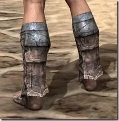 Khajiit Iron Sabatons - Male Rear