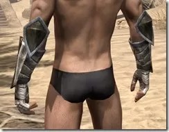 Khajiit Orichalc Gauntlets - Male Rear