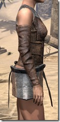 Khajiit Steel Cuirass - Female Right