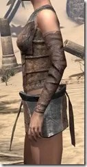 Khajiit Steel Cuirass - Female Side