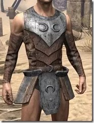 Khajiit Steel Cuirass - Male Front