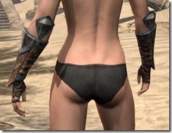 Khajiit Steel Gauntlets - Female Rear