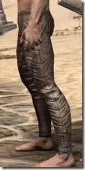 Khajiit Steel Greaves - Male Side