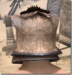 Khajiit Steel Helm - Male Rear