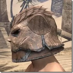 Khajiit Steel Helm - Male Side