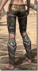 Nord Dwarven Greaves - Female Rear