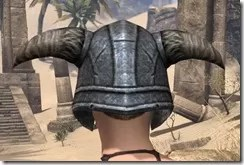 Nord Iron Helm - Female Rear